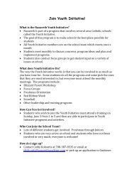 Join Youth Initiative! - Nazareth Academy