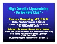 High Density Lipoproteins - The Center for Cholesterol Management