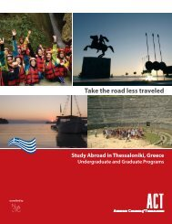 Take the road less traveled - American College of Thessaloniki