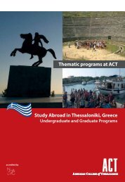 Study Abroad in Thessaloniki, Greece Thematic programs at ACT