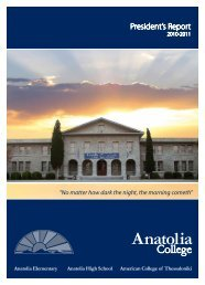 President's Report - American College of Thessaloniki