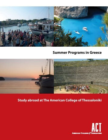 Summer Programs brochure - American College of Thessaloniki