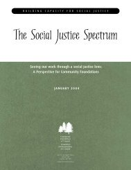 The Social Justice Spectrum - Community Foundations of Canada