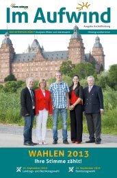 WAHLEN 2013 - Freie Wähler im Landkreis Aschaffenburg