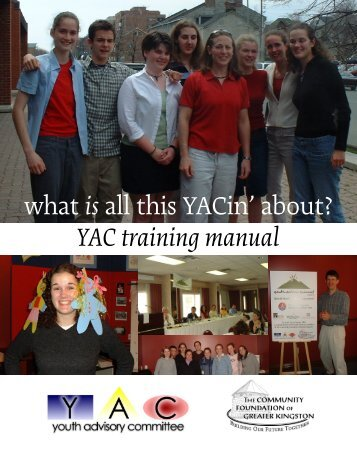 YAC Training Manual - Youth in Philanthropy Canada