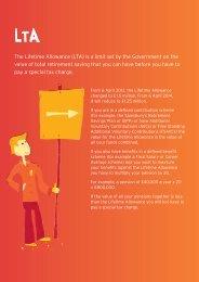 The Lifetime Allowance - Sainsburys Pensions