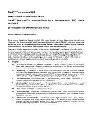 SMART Technologies ULC tarkvara lõppkasutaja litsentsileping ...