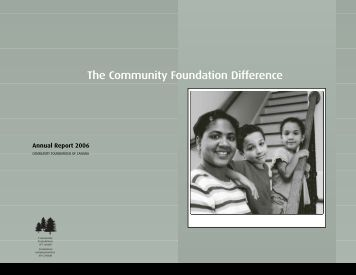 Annual Report 2006 - Community Foundations of Canada