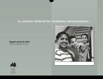 Rapport annuel 2006 - Community Foundations of Canada