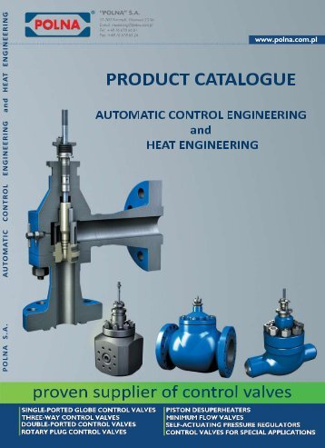 Product catalogue: Automatic control and heat ... - Polna S.A.