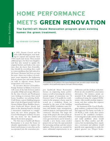 home performance meets green renovation - Best of Building ...