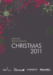 CHRISTMAS 2011 - Pinocchios Restaurant