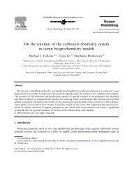On the solution of the carbonate chemistry system in ocean ...