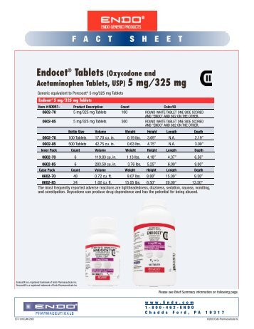 Endocet - Endo Pharmaceuticals