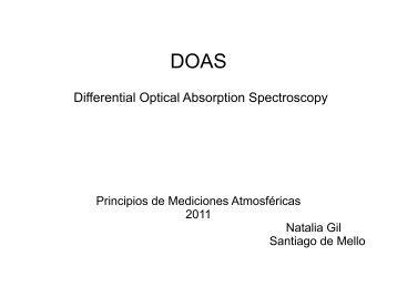Differential Optical Absorption Spectroscopy - Unidad de Ciencias ...