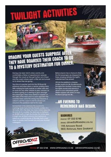 to download the Twilight Activities Brochure. - Off Road NZ