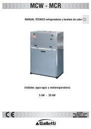 MANUAL TÉCNICO refrigeradores y bombas de calor ... - aplirecon