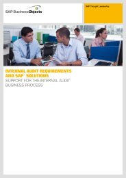 Internal audIt requIrements and saP® solutIons - CFO innovation ASIA