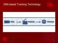 DNAbased Tracking Technology - Polestarltd.com