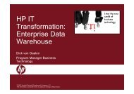 HP IT Transformation: Enterprise Data Warehouse - Net