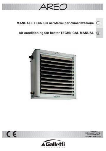 MANUALE TECNICO aerotermi per climatizzazione Air ... - aplirecon