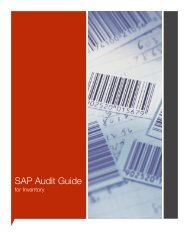 SAP Audit Guide - Inventory