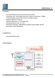 Open Reference Integration Notes - Bluetooth