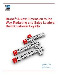 Brand3: A New Dimension to the Way Marketing ... - Brand Tool Box