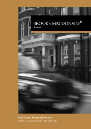 Half Yearly Financial Report - Brooks Macdonald