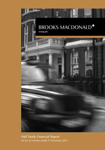 Half Yearly Financial Report - Brooks Macdonald