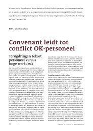 Convenant leidt tot conflict OK-personeel - Zorgmarkt