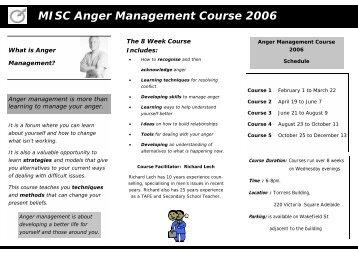 MISC Anger Management Course 2006 - Men's Information ...