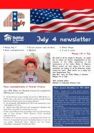 July 4 newsletter - Habitat for Humanity Armenia