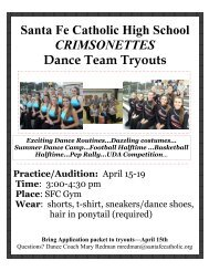 Santa Fe Catholic High School CRIMSONETTES Dance Team Tryouts