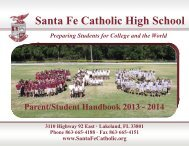 Parent/Student Handbook 2013-2014 - Santa Fe Catholic High School