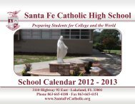 Santa Fe Catholic High School School Calendar 2012 - 2013