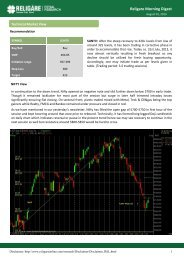 Religare Morning Digest - InvestmentGuruIndia