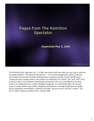 Pages from The Hamilton Spectator - Readership Institute
