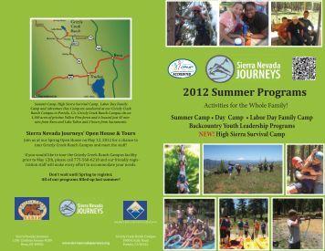2012 Summer Programs - Sierra Health Foundation