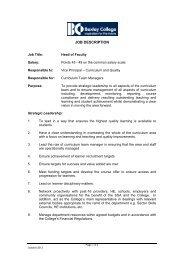 Job Description - Bexley College
