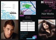 the Hair Works leaflet - Bexley College
