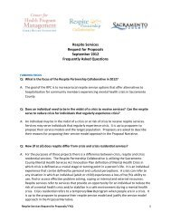 Respite Services Request for Proposals September 2012 Frequently ...