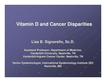 vitamin D - American Institute for Cancer Research