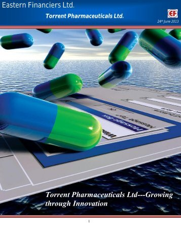 Torrent Pharmaceuticals Ltd - InvestmentGuruIndia