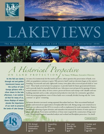A Historical Perspective - Lake George Land Conservancy