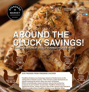come in for great deals during chicken week - Standard Market