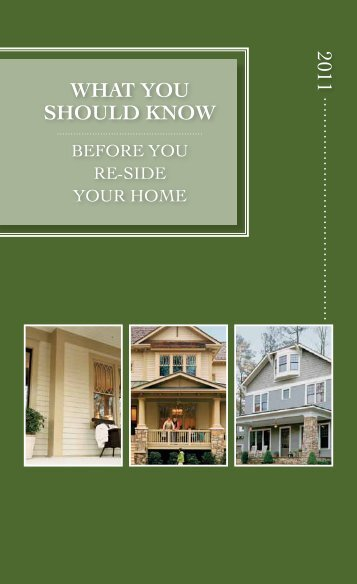 WHAT YOU SHOULD KNOW 2011 - James Hardie Mobile