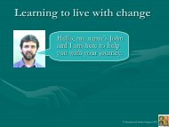 Learning to live with change - University of Canterbury