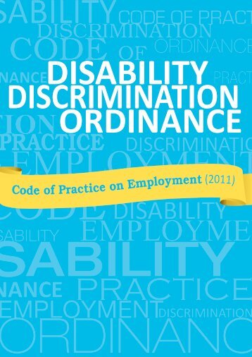 Code of Practice on Employment under the Disability Discrimination ...