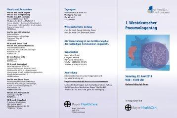 1. Westdeutscher Pneumologentag